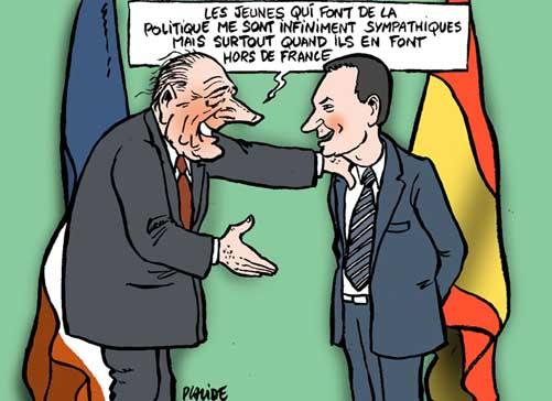 """Trad (cortesía de Didius): """"Los jóvenes que hacen política me son infinitamente simpáticos pero, sobre todo, cuando la hacen fuera de Francia"""""""