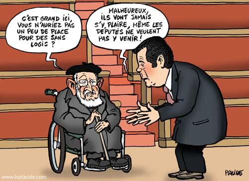 L'abbé Pierre vient défendre la loi SRU à l'Assemblée nationale