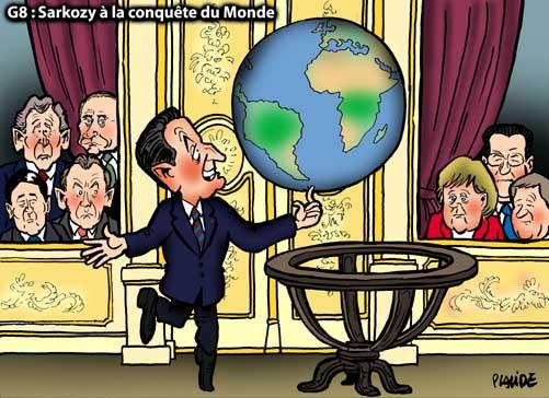 G8 : Après la France, Sarkozy part à la conquête du Monde