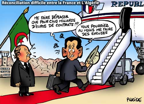 Sarkozy quitte l'Algérie sans s'excuser