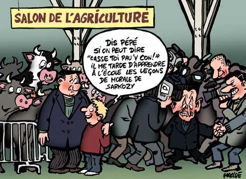 Humour sarkozy corne la fonction pr sidentielle au salon de l 39 agriculture 25 f vrier 2008 - Le salon de l agriculture en direct ...