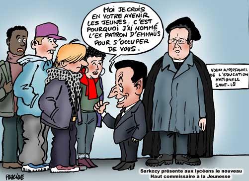Placide sarkozy veut calmer la jeunesse 13 janvier for Chambre sociale 13 janvier 2009
