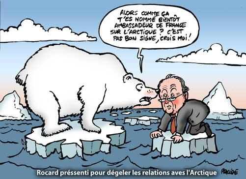 Placide Arctique Michel Rocard Ambassadeur De France Sur La Banquise 13 Mars 2009 Les Dossiers De Placide