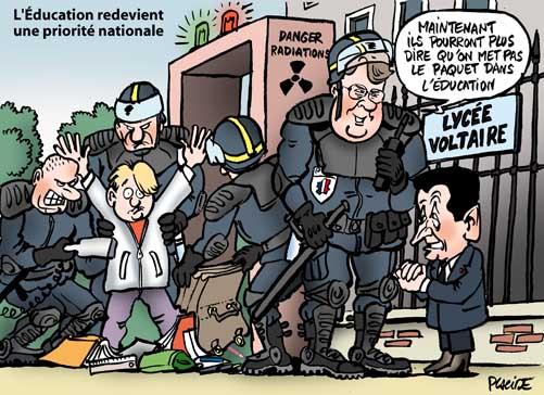 Sarkozy veut sanctuariser les établissements scolaires