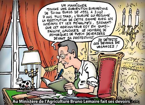 Subventions : les agriculteurs devront rembourser 09-08-05-bruno-lemaire