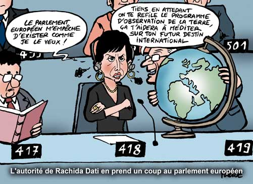 Rachida Dati remise à sa place au parlement européen