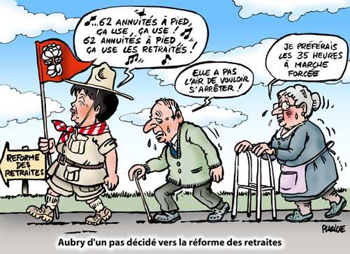 Placide - Aubry envisage de repousser l'âge de départ en retraite ...