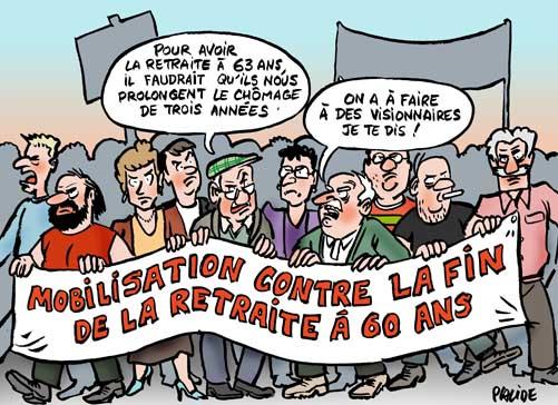 La mobilisation sur les retraites partout en France
