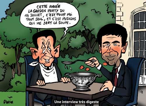 Sarkozy à la télévision défend à la fois Woerth et son programme