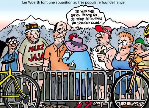 Les Woerth font un saut au Tour de France