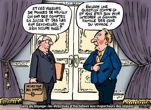 Sarkozy et Brice Hortefeux s'attaquent aux gens du voyage