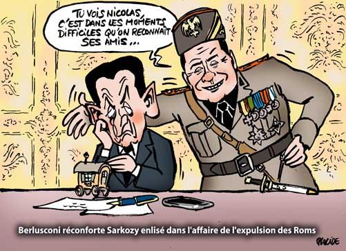 Silvio Berlusconi soutient Nicolas Sarkozy