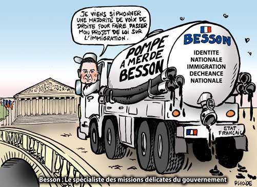 Besson présente son projet de loi sur l'immigration