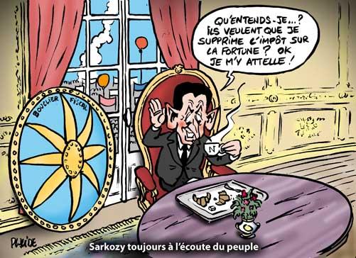 Sarkozy parle fiscalité quand la rue gronde contre la réforme des retraites