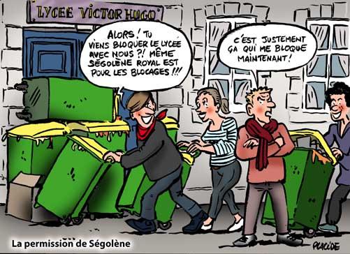 Manifestations : Ségolène Royal veut motiver les jeunes