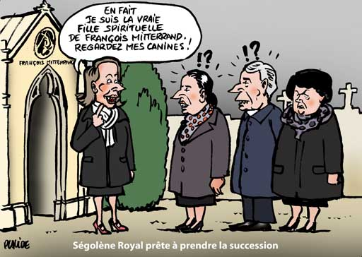Ségolène Royal veut succéder à François Mitterrand