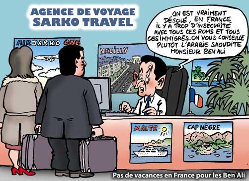 Ben Ali , l'évité surprise de Sarkozy.