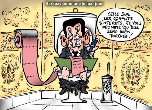 Conflits d'intérêts: le dernier projet de loi de Sarkozy