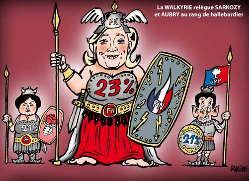 Marine Le Pen en tête au premier tour en 2012 selon un sondage