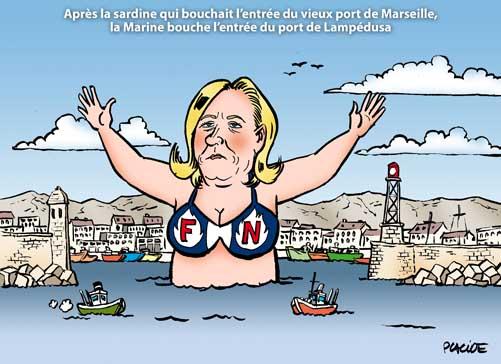 La Marine débarque à Lampedusa