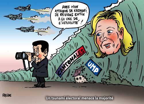 Cantonales 2011: La vague lepéniste menace l'UMP