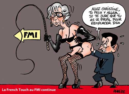 Lagarde envisage la tête du FMI