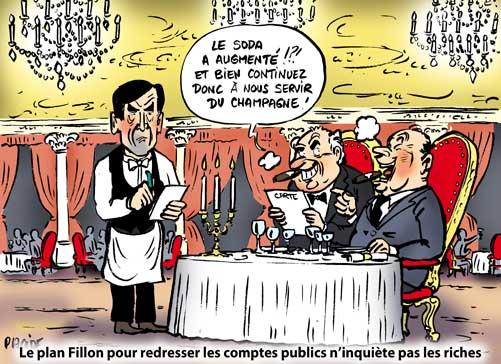 Le plan d'austérité de Fillon touche aussi les riches