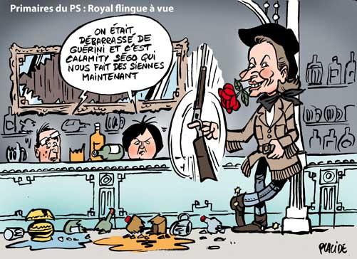 Selon Royal, Hollande n'a pas de bilan, Aubry pas d'expérience électorale