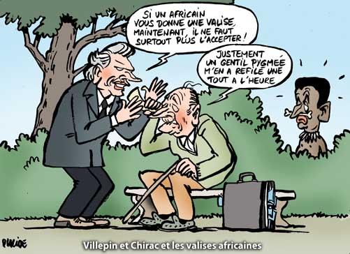 Chirac et Villepin mis en cause dans une affaire des valises africaines