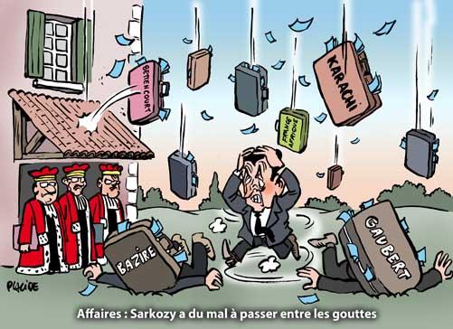 Sarkozy de plus en plus cerné par les affaires