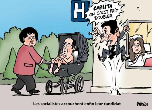 François Hollande élu candidat du parti socialiste pour la présidentielle