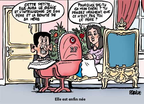 Carla Bruni-Sarkozy donne naissance à une petite fille