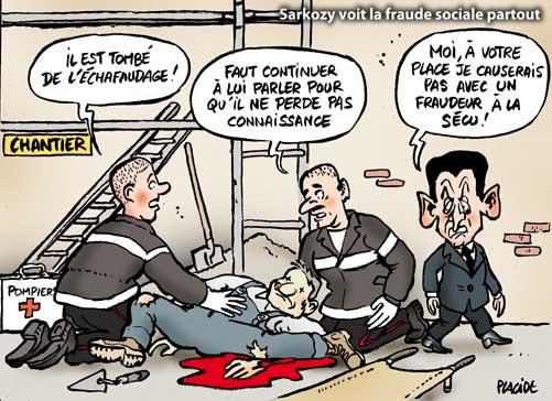 La fraude sociale nouveau thème de campagne de Sarkozy