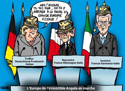 Sommet Merkel-Sarkozy-Monti: l'Allemagne inflexible sur la BCE
