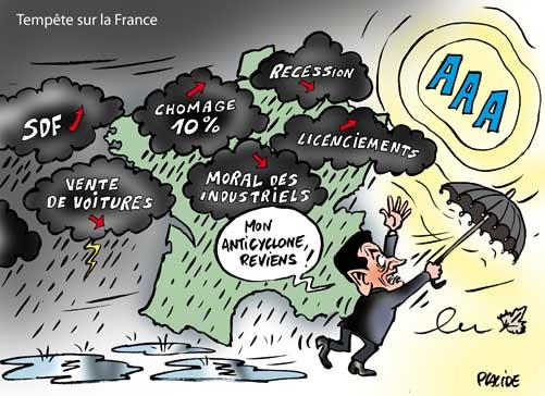 Tempête, récession, chômage, etc... : Sale temps sur la France