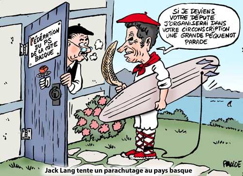 Jack Lang cherche une nouvelle zone de parachutage