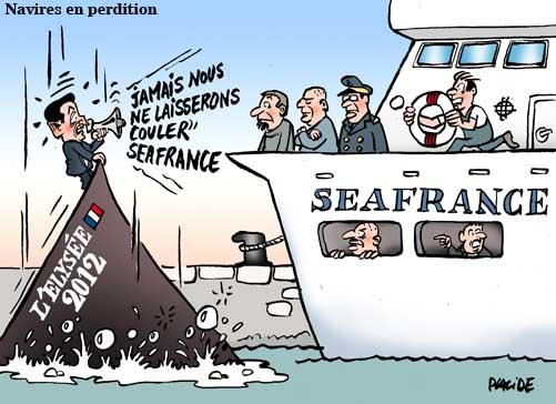 Sarkozy au sauvetage de SeaFrance