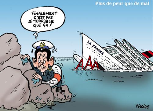 Sarkozy sombre sur l'écueil du triple A