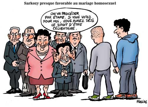 Mariage gay: Sarkozy se tate