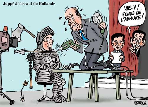 Juppé en duel face à Hollande