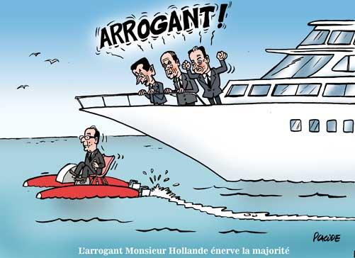 Hollande savoure son procès en arrogance