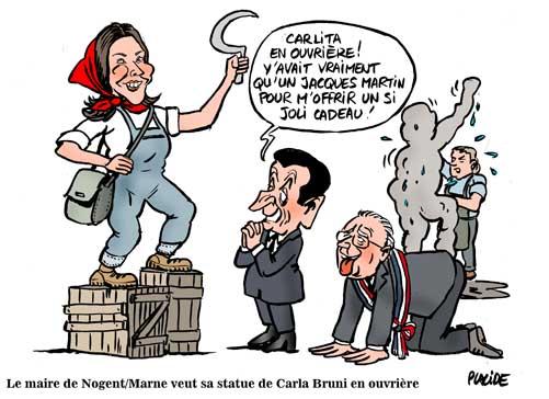 Le maire de Nogent-sur-Marne veut sa statues de Carla Bruni