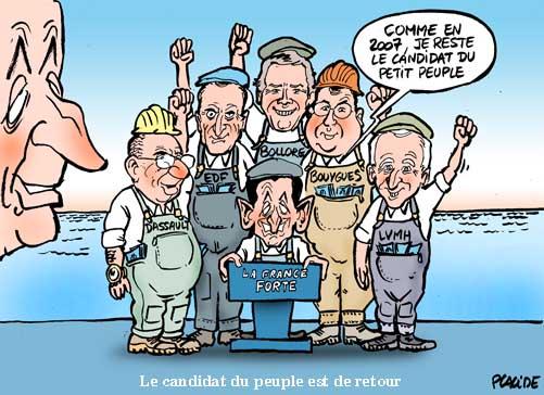 Sarkozy joue le peuple contre les élites