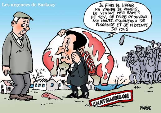 La journée marathon de Sarkozy