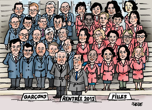 La composition du gouvernement de Jean-Marc Ayrault