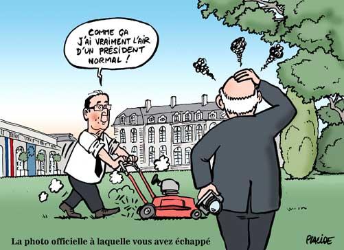 Depardon réalise la photo officielle de François Hollande