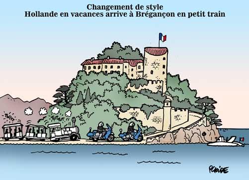 Hollande en vacances à Brégançon