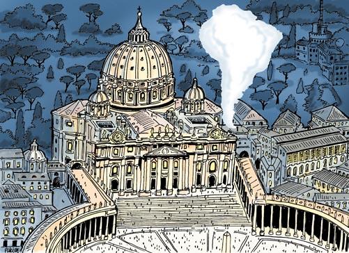 placide fum e blanche au vatican le pape fran ois nouveau est arriv. Black Bedroom Furniture Sets. Home Design Ideas