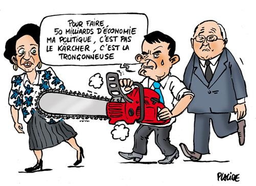 Valls tranche pour économiser 50 milliards