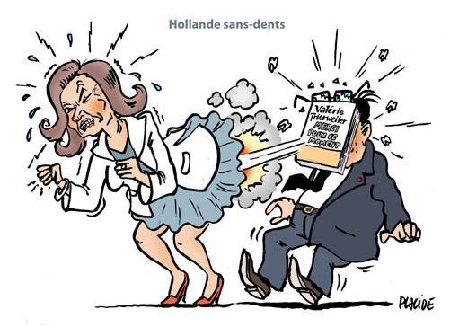 Humour Trierweiler Descend Hollande Dans Un Livre 04